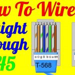 How To Make Straight Through Cable Rj45 Cat 5 5E 6 ( Wiring Diagram   Cat 6 Wiring Diagram