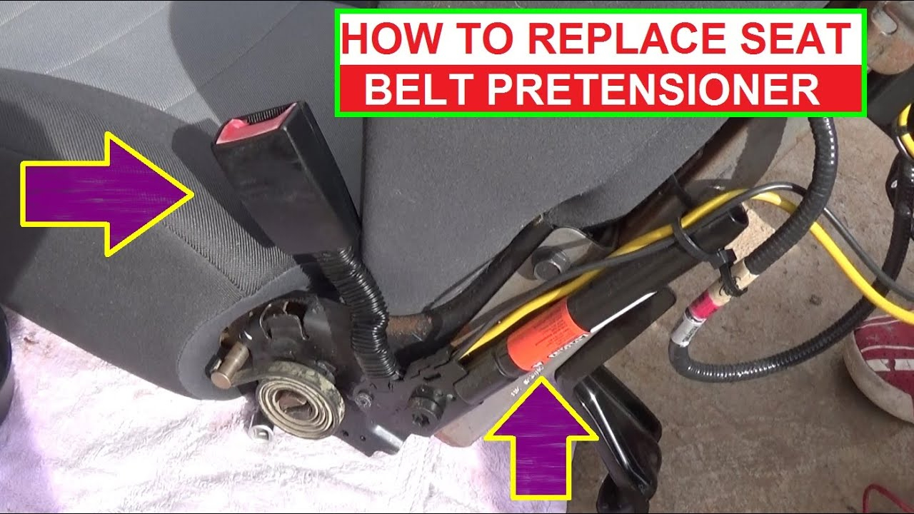 How To Remove And Replace Seat Belt Pretensioner. Demonstrated On Ford  Escape / Mercury Mariner - Mercury 8 Pin Wiring Harness Diagram