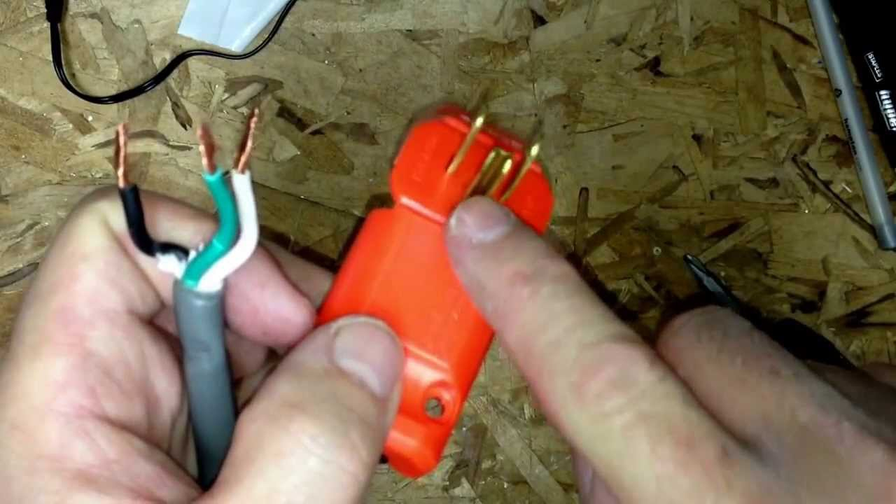 How To Replace A Male Plug On Your Extension Cord - Youtube - Extension Cord Wiring Diagram