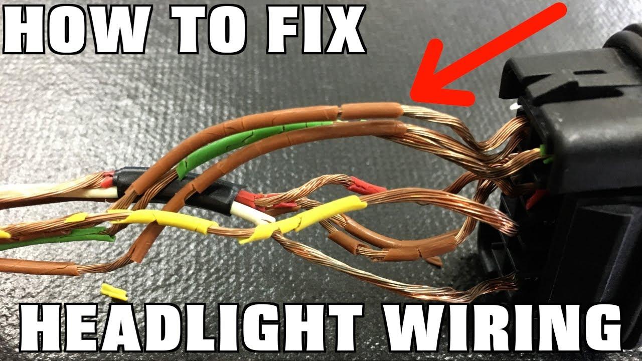 How To Replace Headlight Wiring - Youtube - Headlight Socket Wiring Diagram