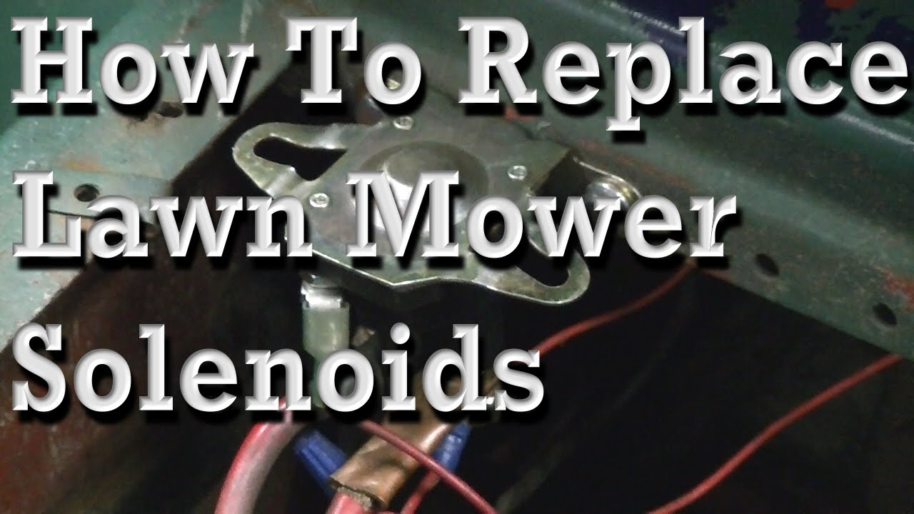 How To Replace Lawn Mower Solenoids, With Wiring Diagram - Youtube - 3 Pole Starter Solenoid Wiring Diagram