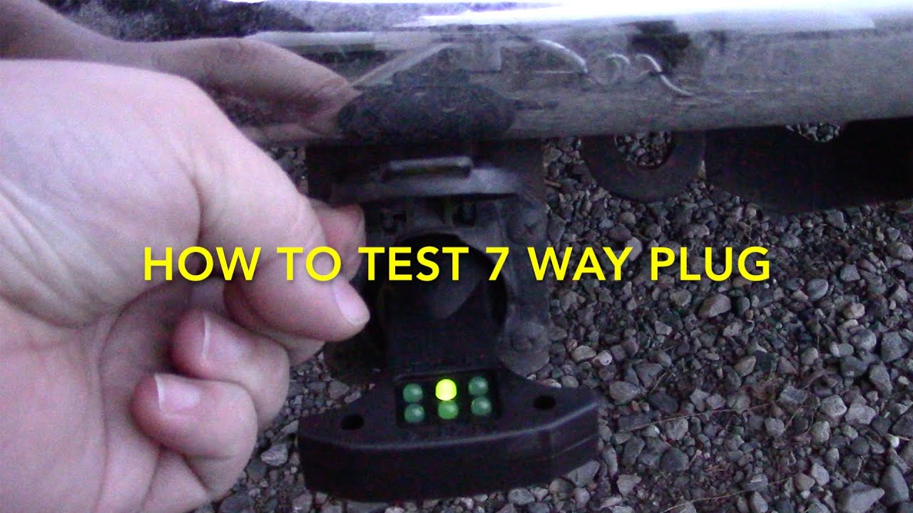 How To Test 7 Way Trailer Rv Electrical Plug - Youtube - 7 Way Trailer Plug Wiring Diagram Gmc