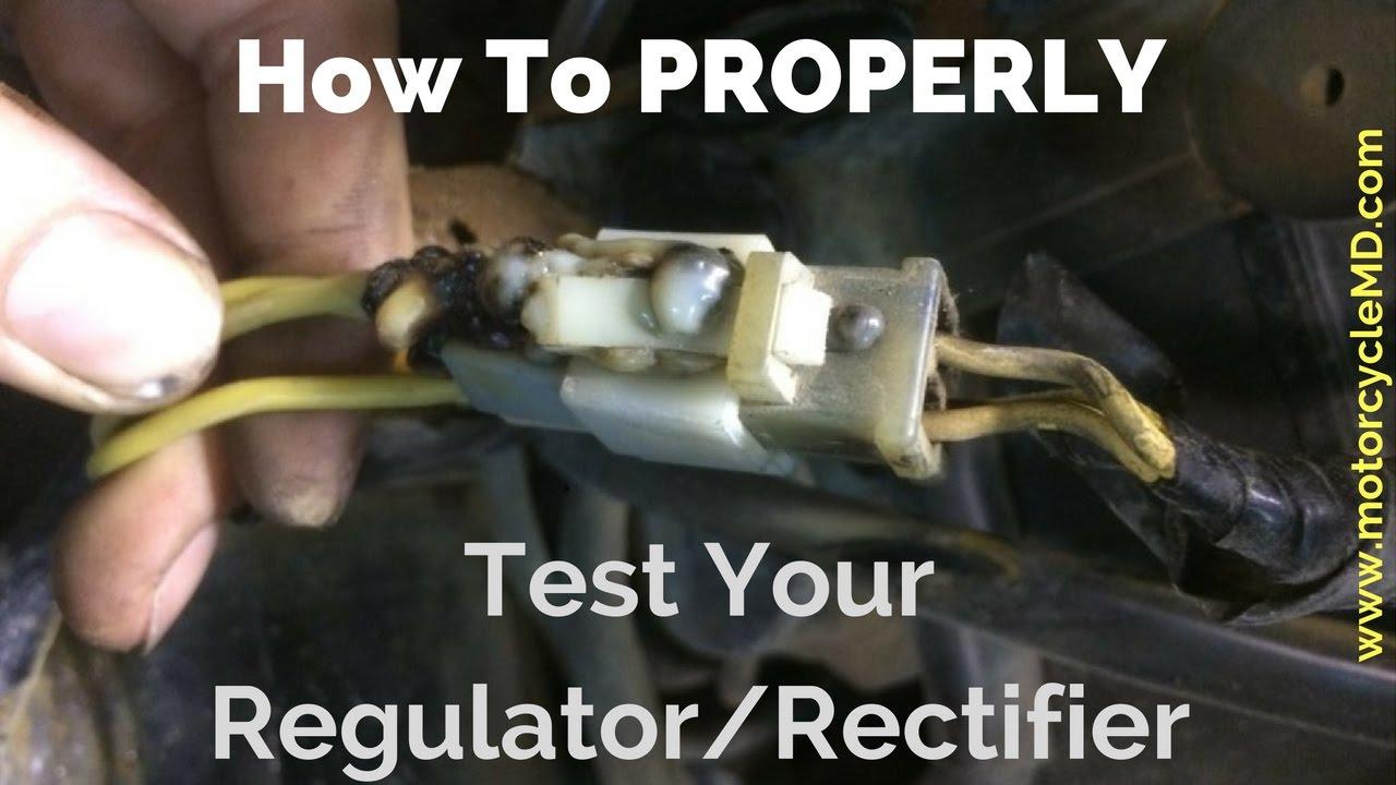 How To Test A Regulator/rectifier - Youtube - Rectifier Regulator Wiring Diagram