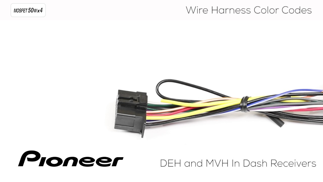 How To - Understanding Pioneer Wire Harness Color Codes For Deh And - Pioneer Fh-S501Bt Wiring Diagram