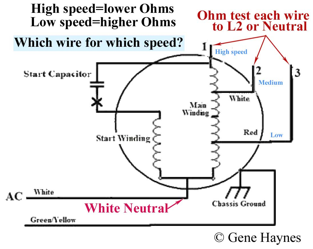 How To Wire 3-Speed Fan Switch - 3 Speed Fan Wiring Diagram