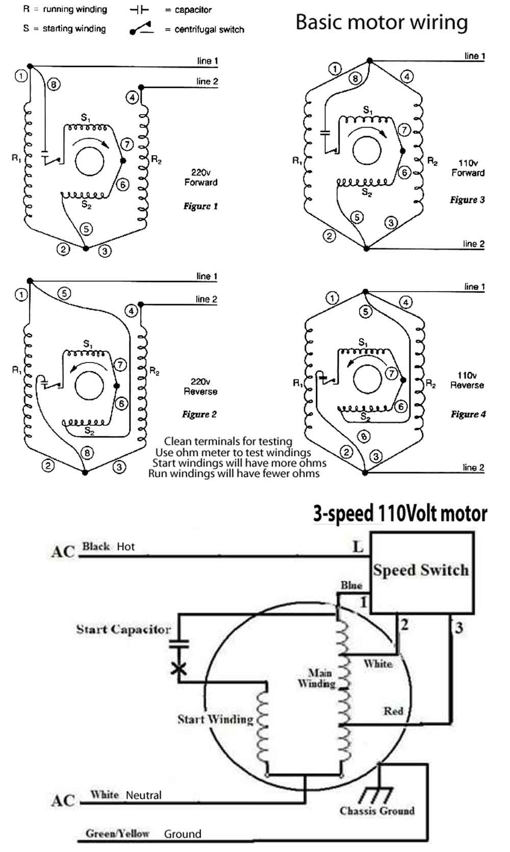 How To Wire 3-Speed Fan Switch - Ceiling Fan Switch Wiring Diagram