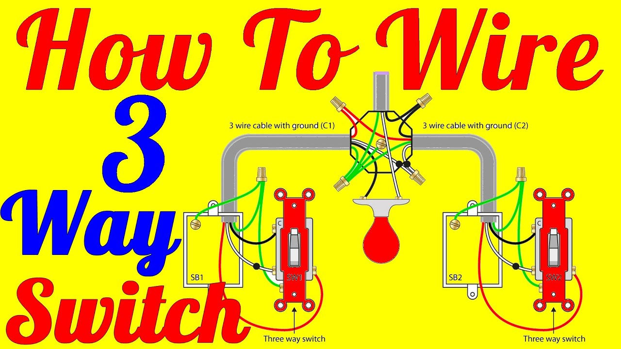 How To Wire 3 Way Switch Wiring Diagrams - Youtube - 3Way Switch Wiring Diagram