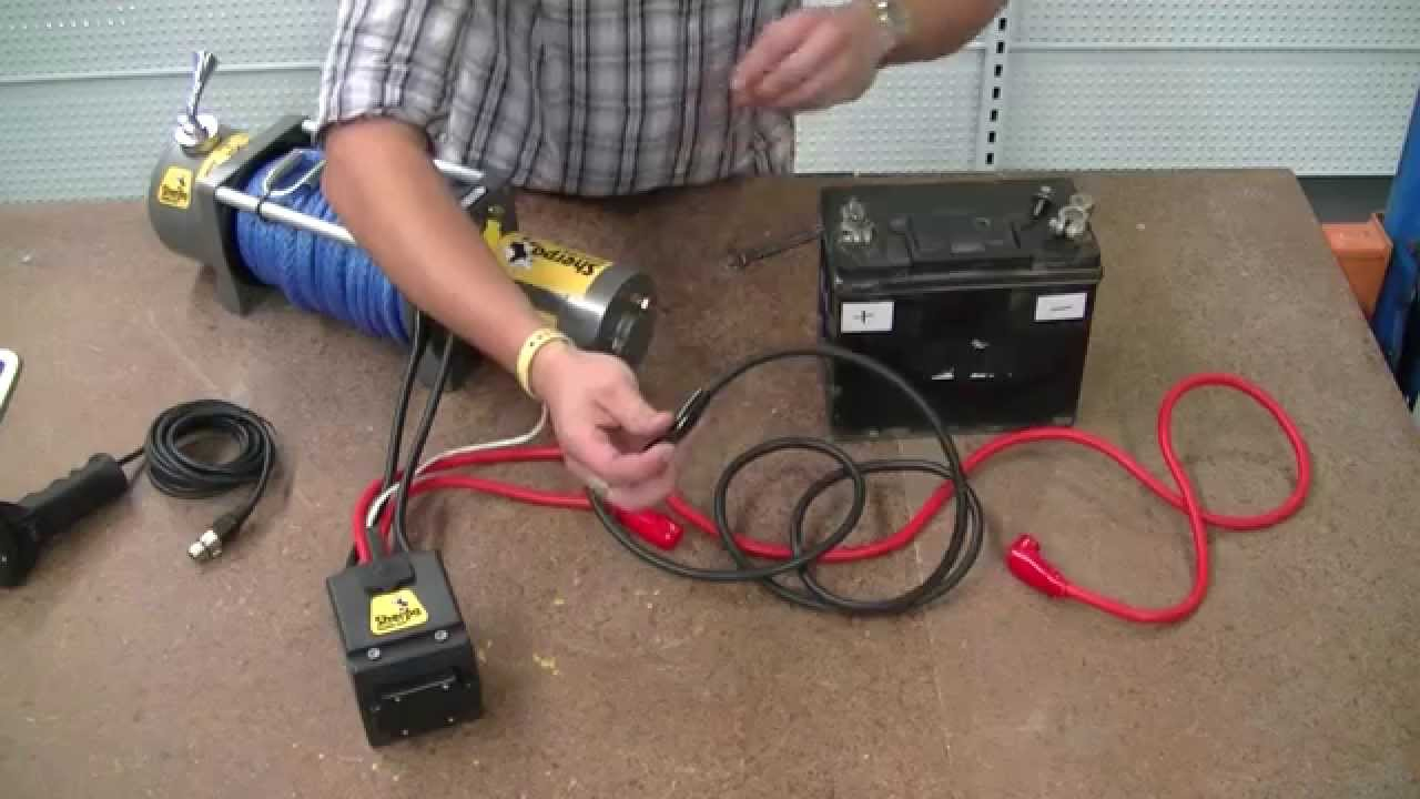 """How To Wire A 12V Winch - Sherpa 4X4 """"the Colt"""" - Youtube - 12 Volt Winch Solenoid Wiring Diagram"""