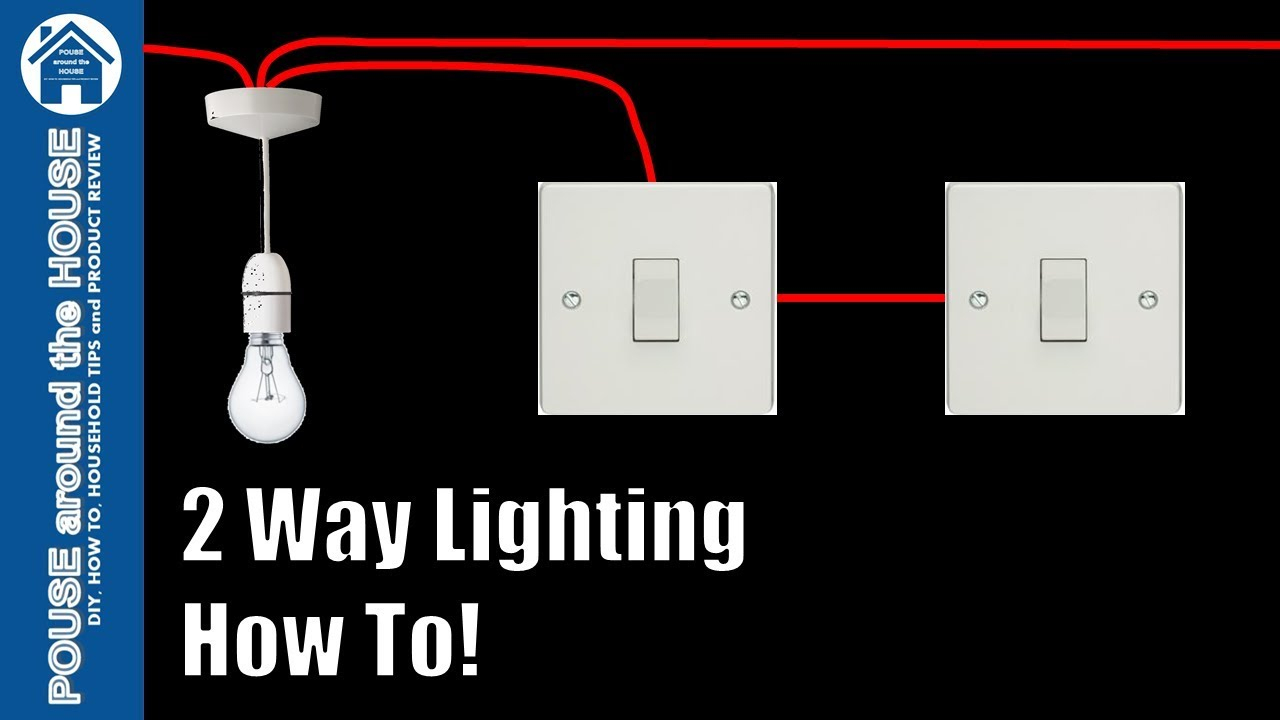 How To Wire A 2 Way Light Switch. 2 Way Lighting Explained. Light - Wiring Multiple Lights And Switches On One Circuit Diagram