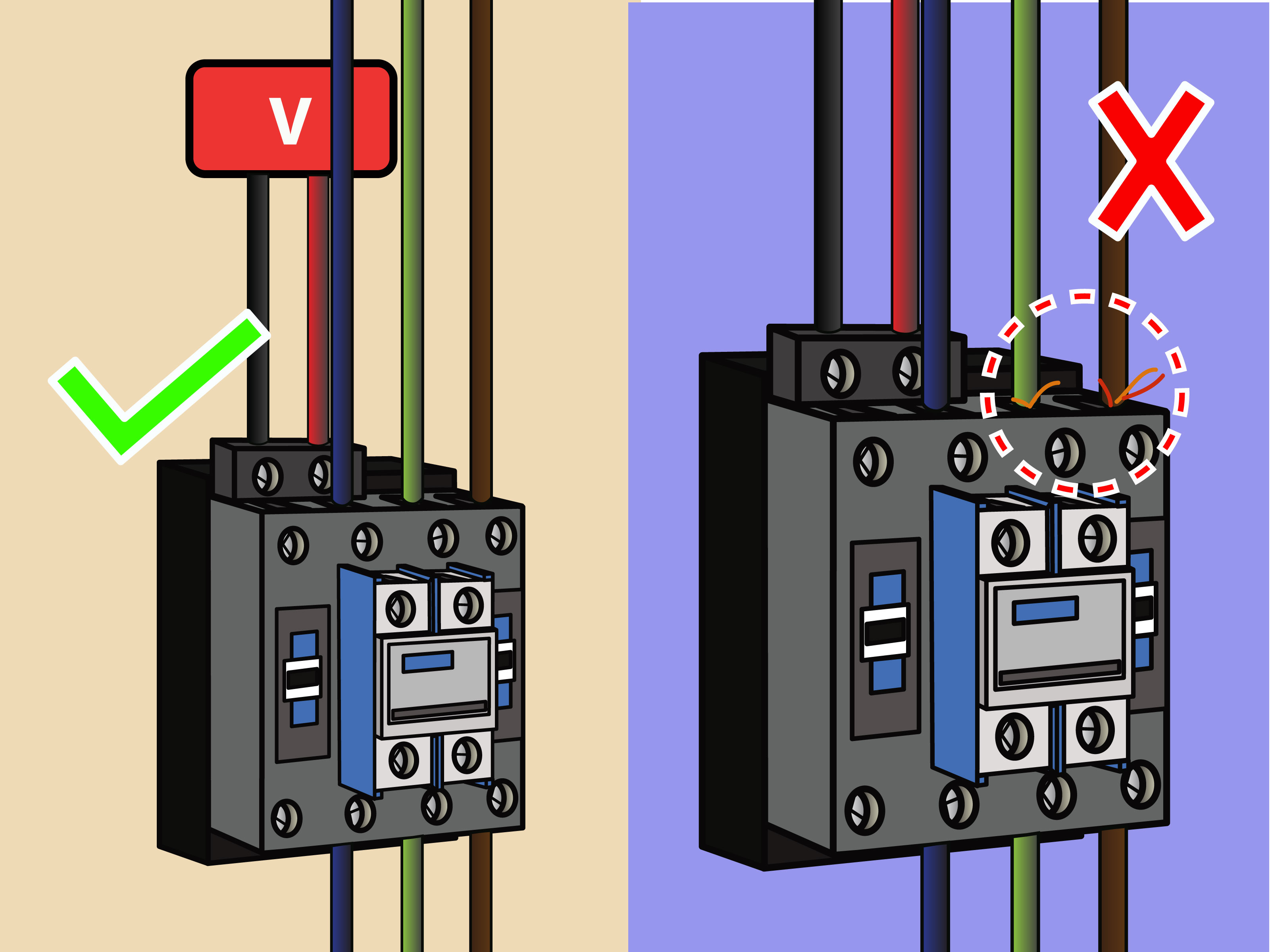 How To Wire A Contactor: 8 Steps (With Pictures) - Wikihow - Contactor Wiring Diagram