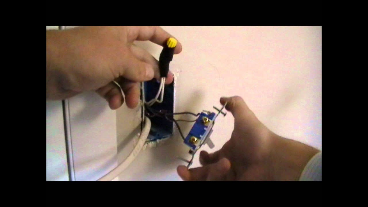 How To Wire An Outlet Off Of A Switch - Youtube - Wiring A Light Switch And Outlet Together Diagram