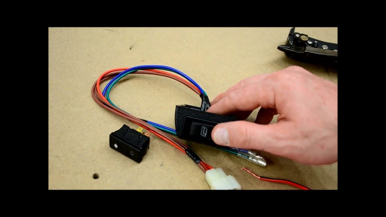 How To Wire Door Lock And Power Window Switches - Youtube - Power Window Switch Wiring Diagram