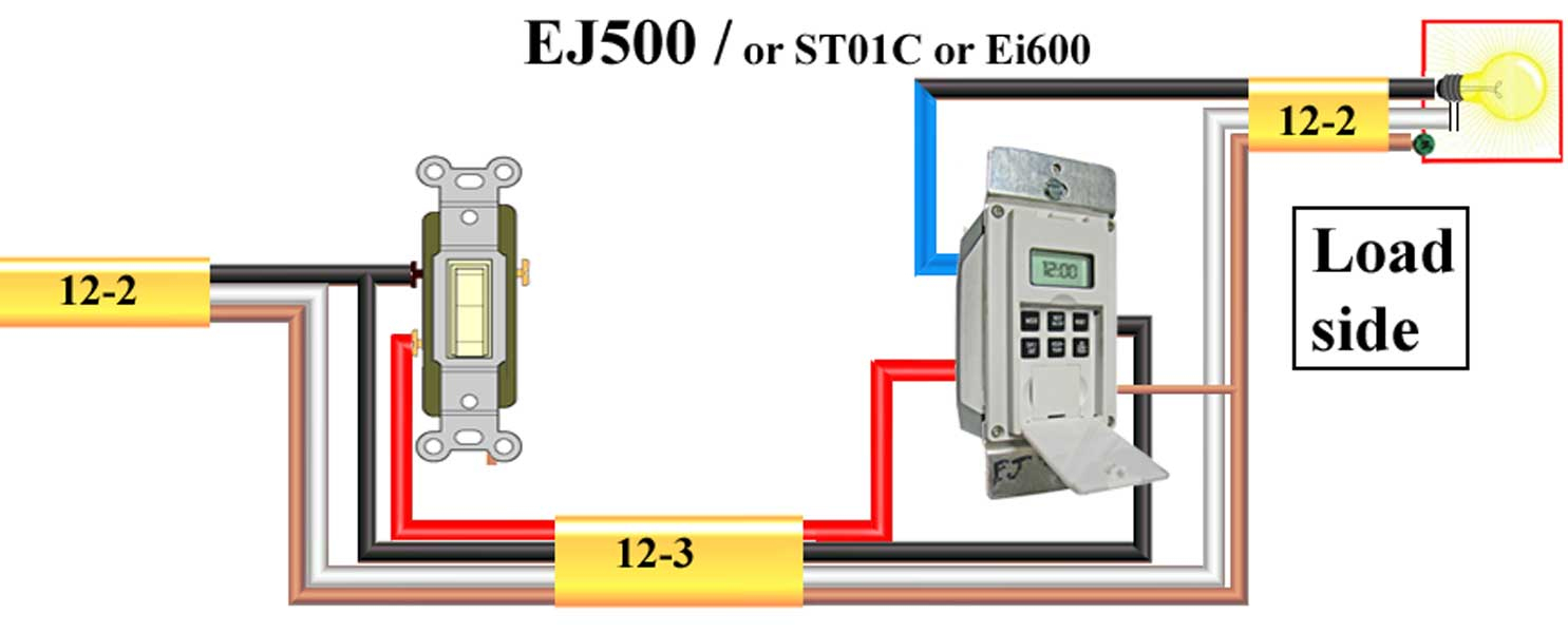 How To Wire Ej500 Timer - 3 Way Switch Wiring Diagram