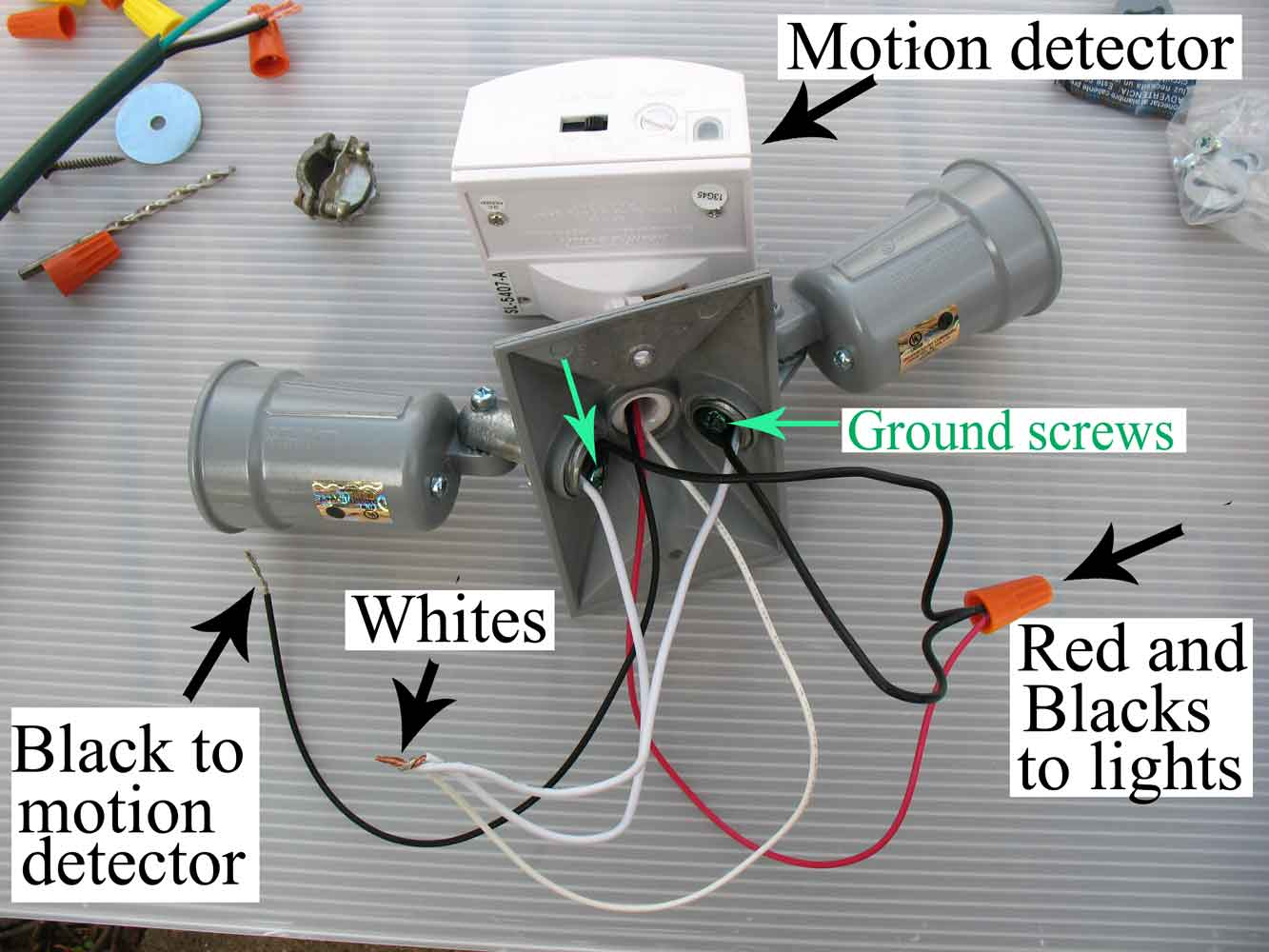 How To Wire Motion Sensor/ Occupancy Sensors - Motion Sensor Light Wiring Diagram