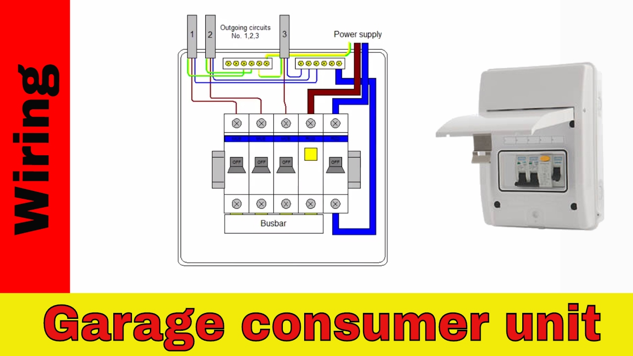 How To Wire Rcd In Garage, Shed Consumer Unit (Uk). Consumer Unit - Wiring A Shed Diagram