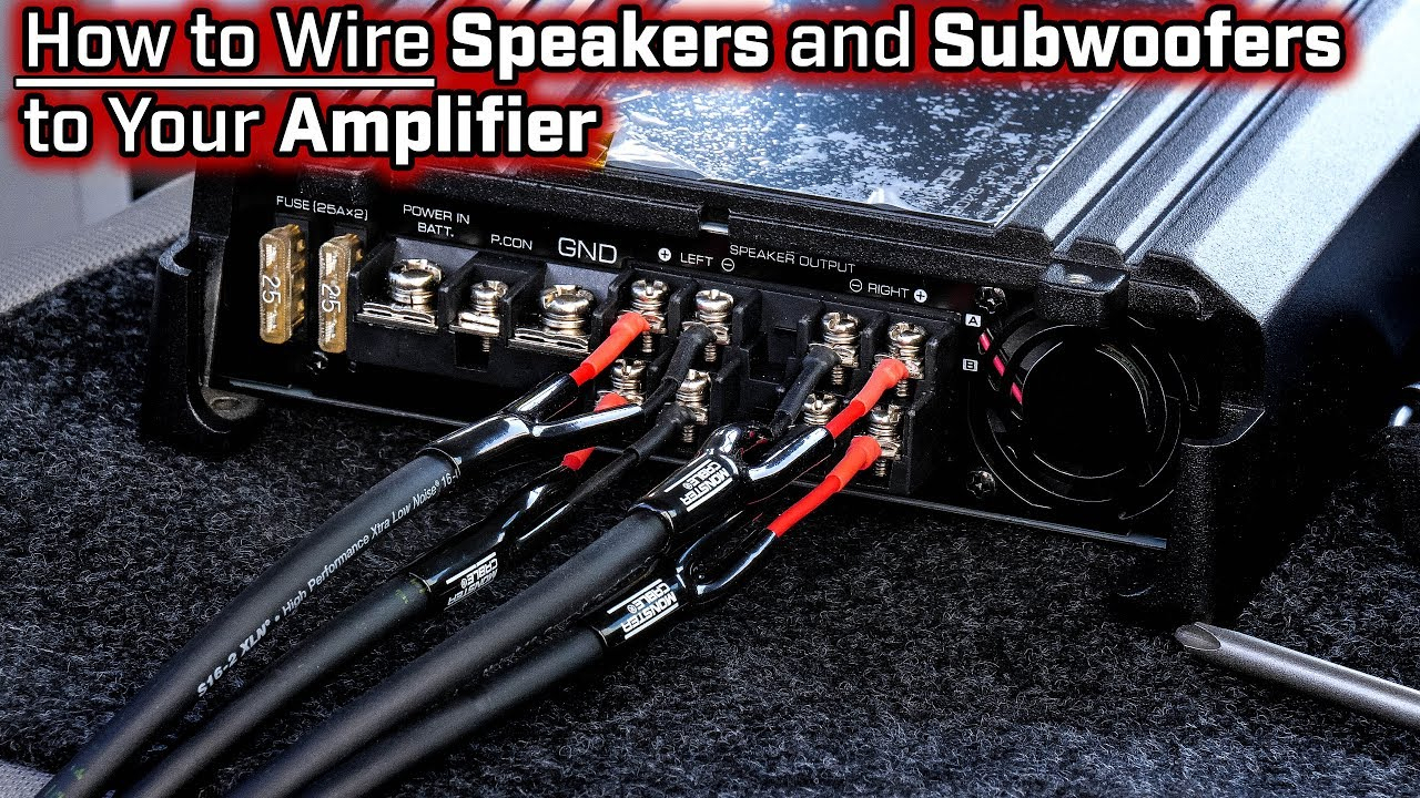 How To Wire Speakers And Subwoofers To Your Amplifier - 2, 3, 4 And - 6 Speakers 4 Channel Amp Wiring Diagram
