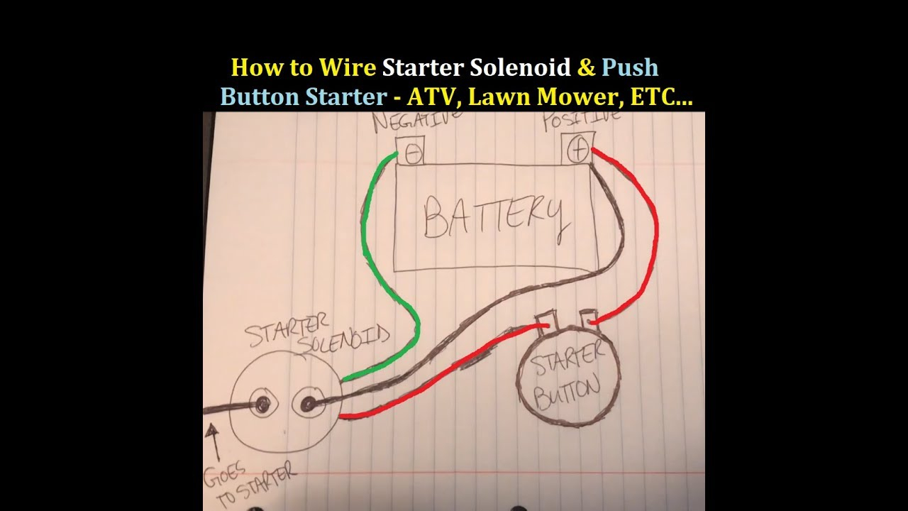 How To Wire Starter Button And Solenoid To An Atv 3 Wheeler 4 - 3 Pole Starter Solenoid Wiring Diagram