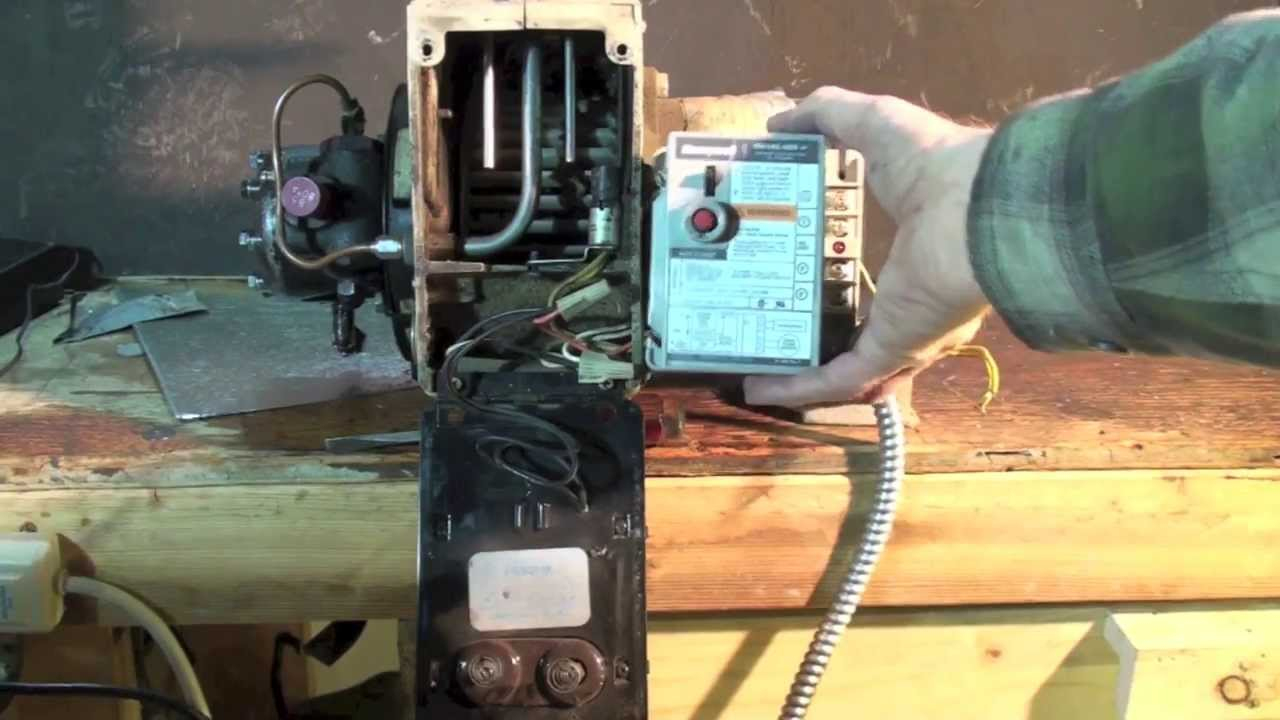 How To Wire The Oil Furnace Cad Cell Relay - Youtube - Beckett Oil Burner Wiring Diagram