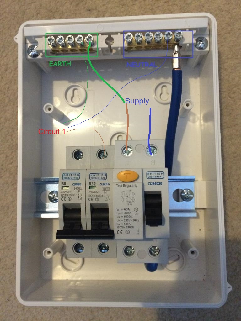 How To Wire Up Garage Rcd | Overclockers Uk Forums - Garage Wiring Diagram