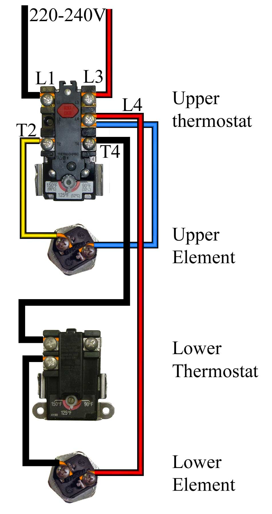 How To Wire Water Heater For 120 Volts - Water Heater Wiring Diagram