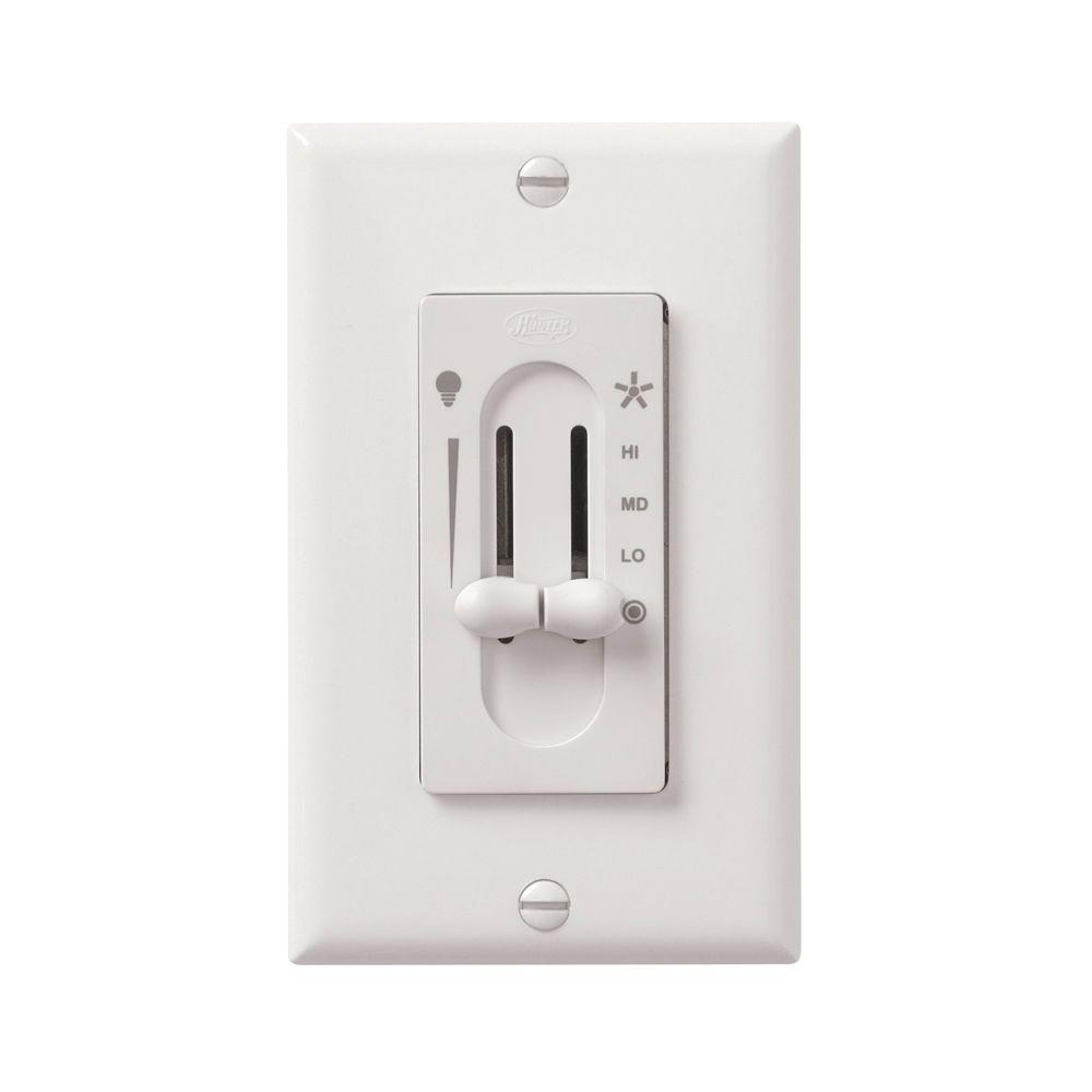 Hunter All-Fan 3-Speed Fan/light Dual-Slide Ceiling Fan Control - Ceiling Fan Wall Switch Wiring Diagram