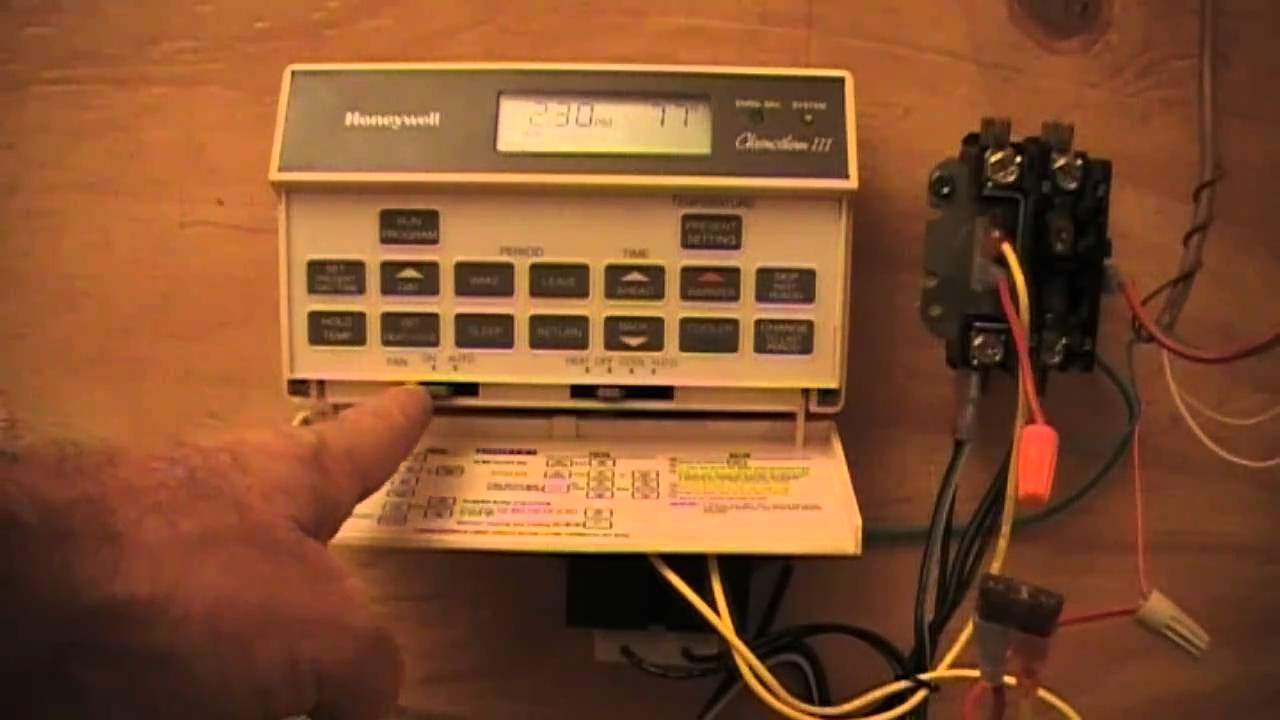 Hvac - Old Honeywell T8601D - Youtube - Honeywell Chronotherm Iii Wiring Diagram