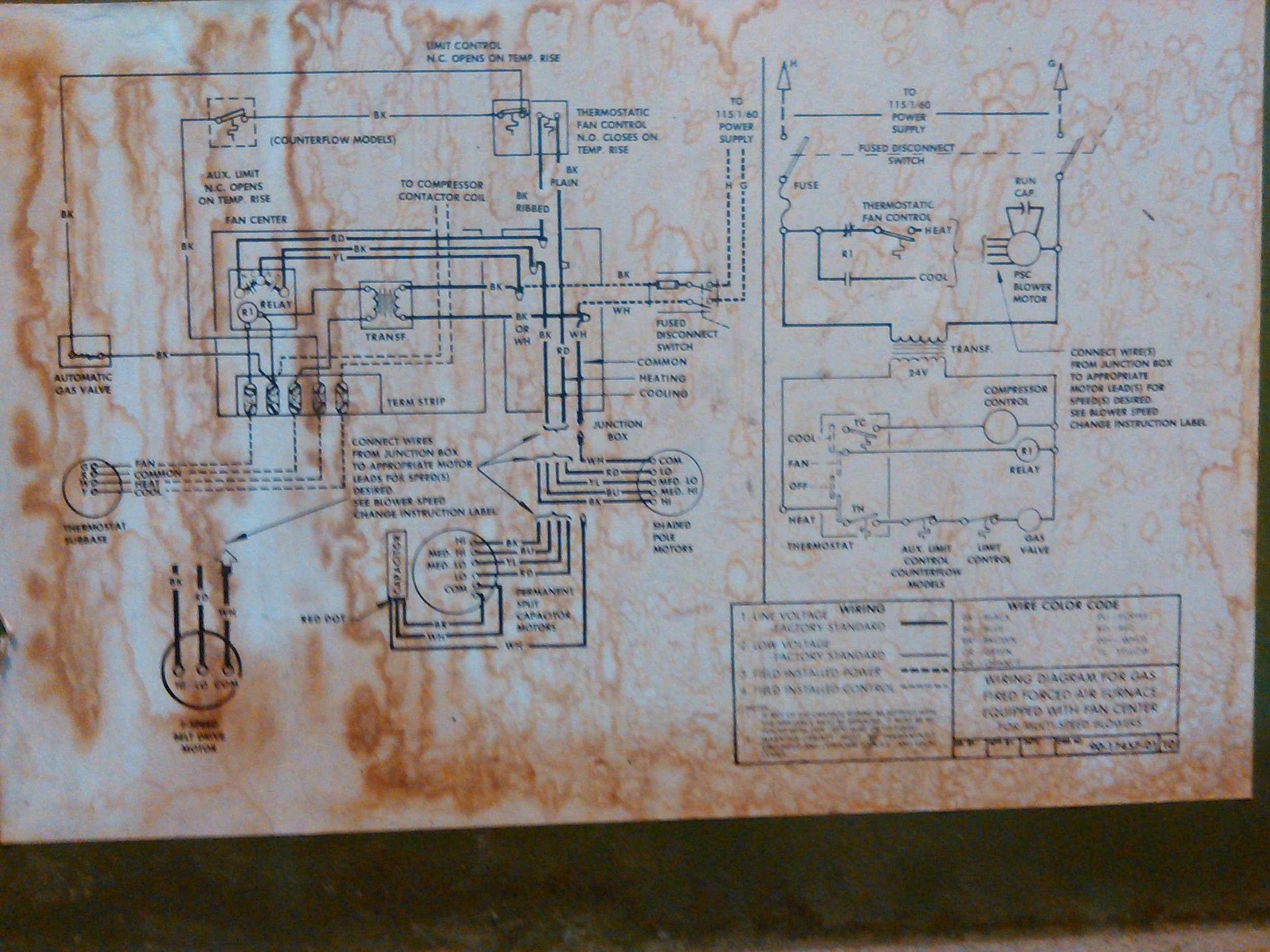 Hvac - Replace Old Furnace Blower Motor With A New One But The Wires - Electric Furnace Wiring Diagram