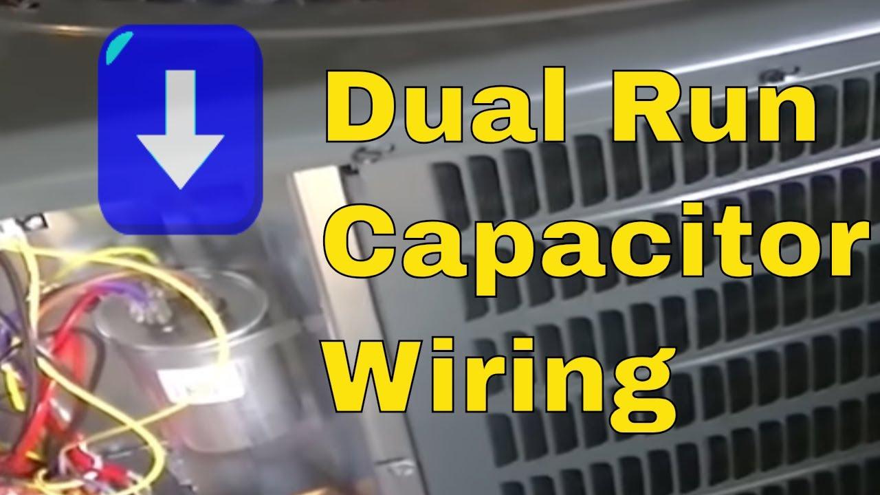 Hvac Training   Dual Run Capacitor Wiring - Youtube - Ac Dual Capacitor Wiring Diagram