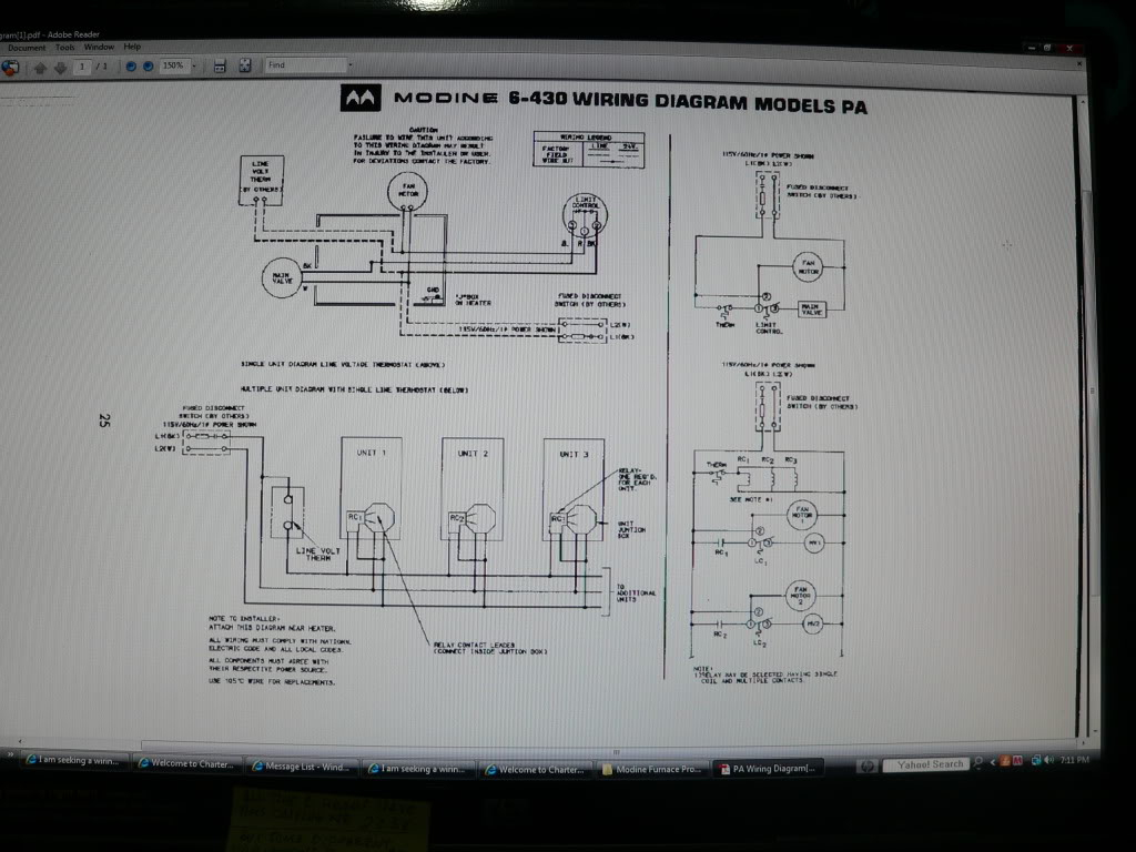 I Am Seeking A Wiring Diagram For A Honeywell Ra832A1066 Control. I - Modine Gas Heater Wiring Diagram