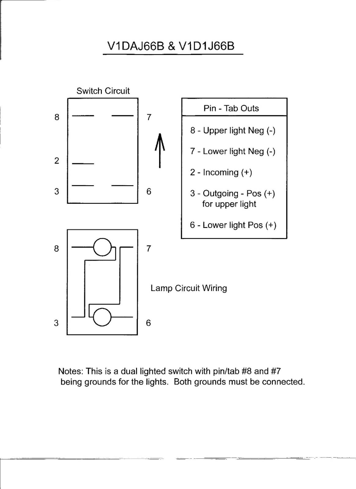 Illuminated Rocker Switch Wiring Diagram | Wiring Diagram - 5 Pin Rocker Switch Wiring Diagram