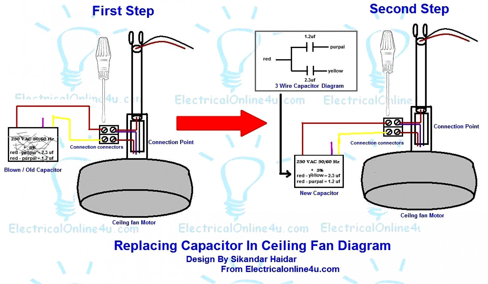 Images Of Ceiling Fan Capacitor Wiring Diagram Hunter Simple - Capacitor Wiring Diagram