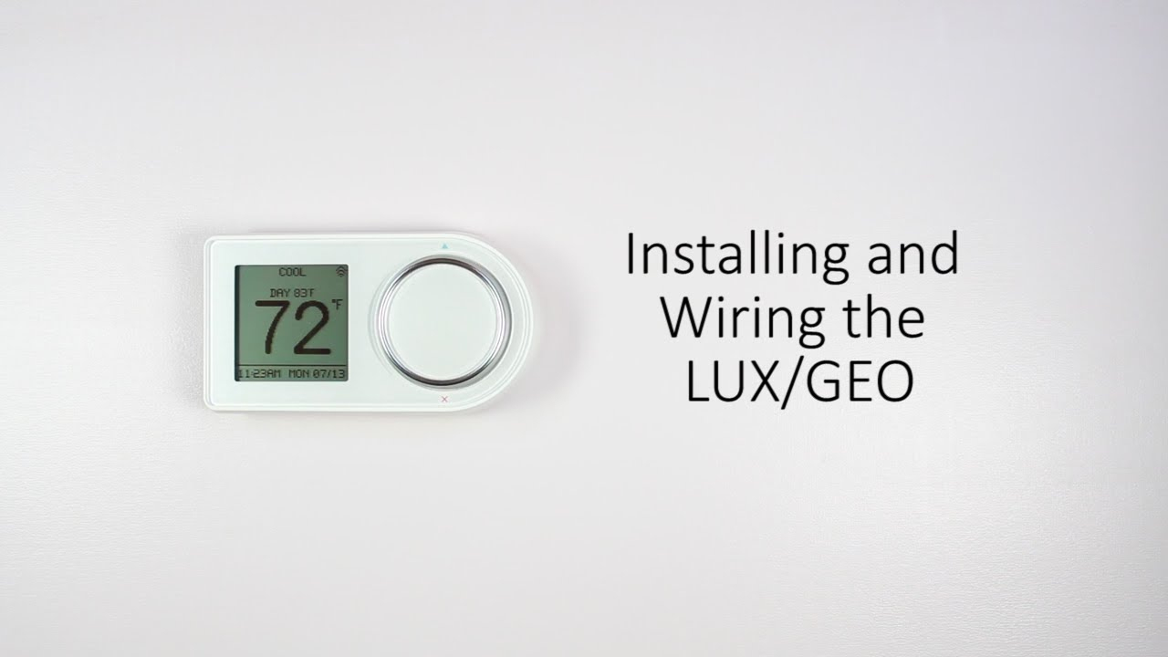 Installing And Wiring The Lux/geo - Youtube - Lux Thermostat Wiring Diagram