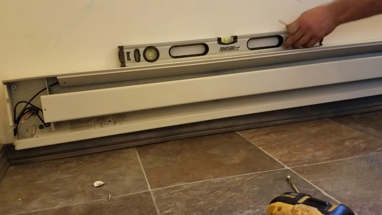 Installing Electric Baseboard Heater. Diy - Youtube - Baseboard Heater Wiring Diagram 240V