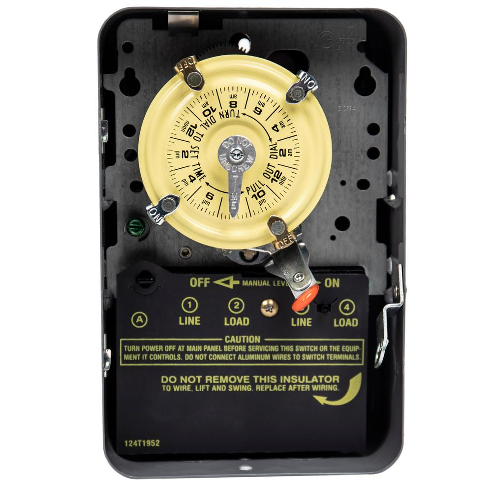 Intermatic 40-Amp 240-Volt Electric Water Heater Time Switch-Wh40Dl3 - 240V Water Heater Wiring Diagram