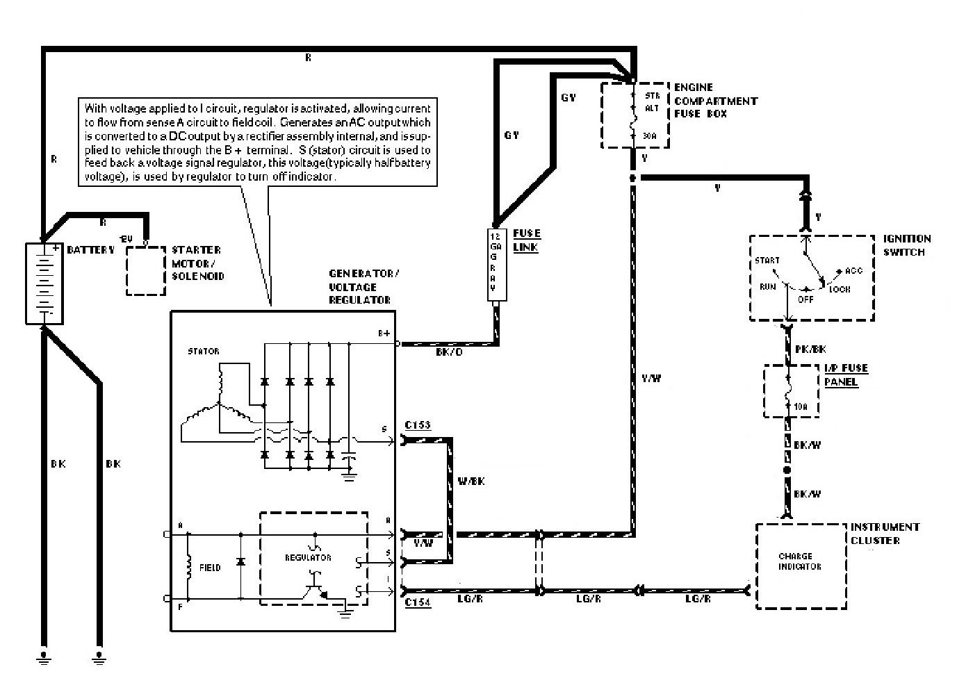 Internal Alternator Regulator Wiring Diagram | Wiring Library - Ford Alternator Wiring Diagram Internal Regulator