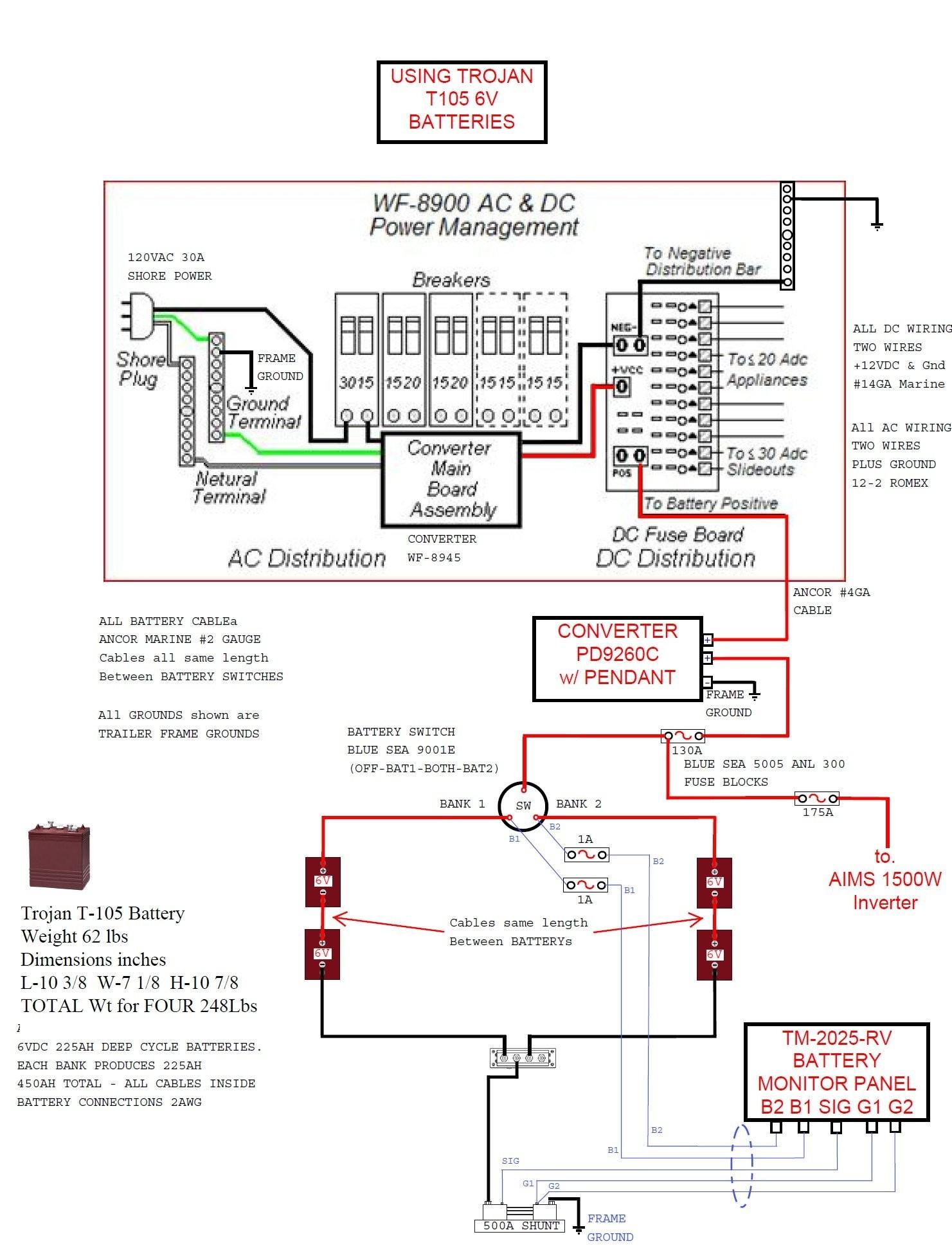 Inverter Wiring Diagram For Camper New 4Uqxh And Rv Converter - Rv Inverter Charger Wiring Diagram