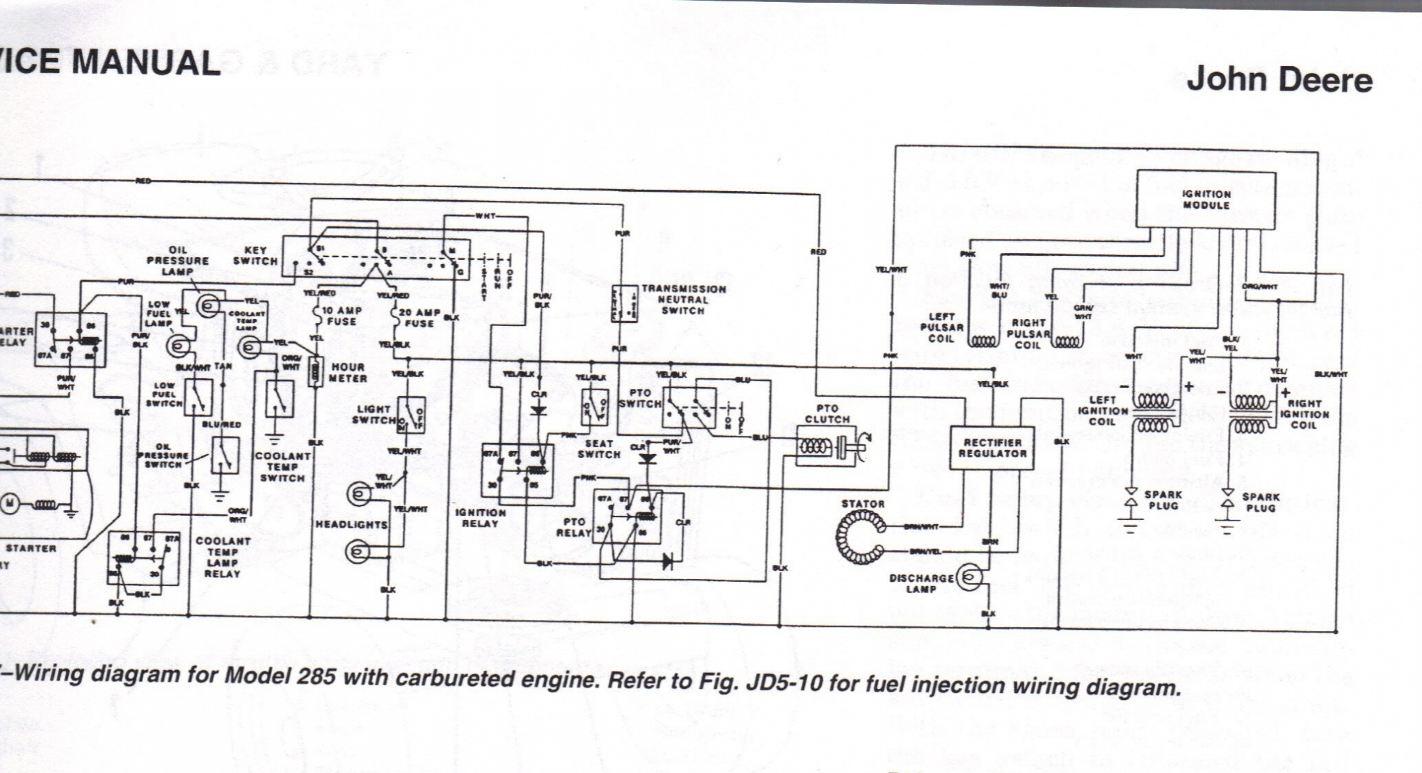 John Deere 110 Ignition Wiring Diagram