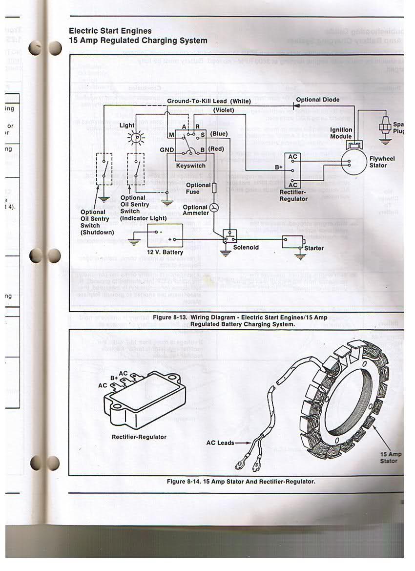 Kohler Engine Electrical Diagram | Re: Voltage Regulator/rectifier - Kohler Engine Wiring Diagram