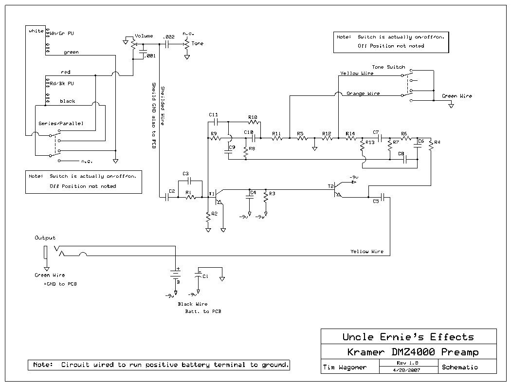 Kramer Wiring Information And Reference - Hss Wiring Diagram
