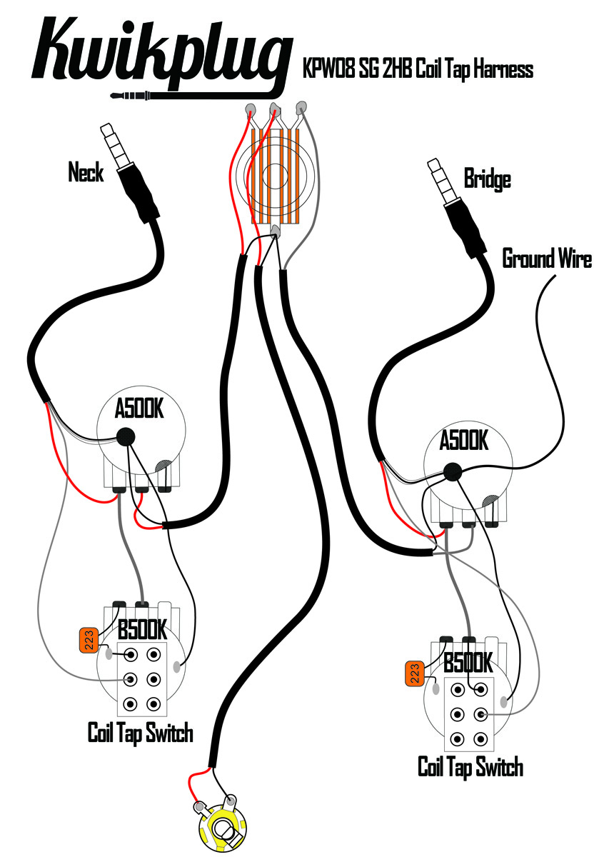 Electric Guitar Diagram Wire 2 Humbucker 2 Tones 1 Volume