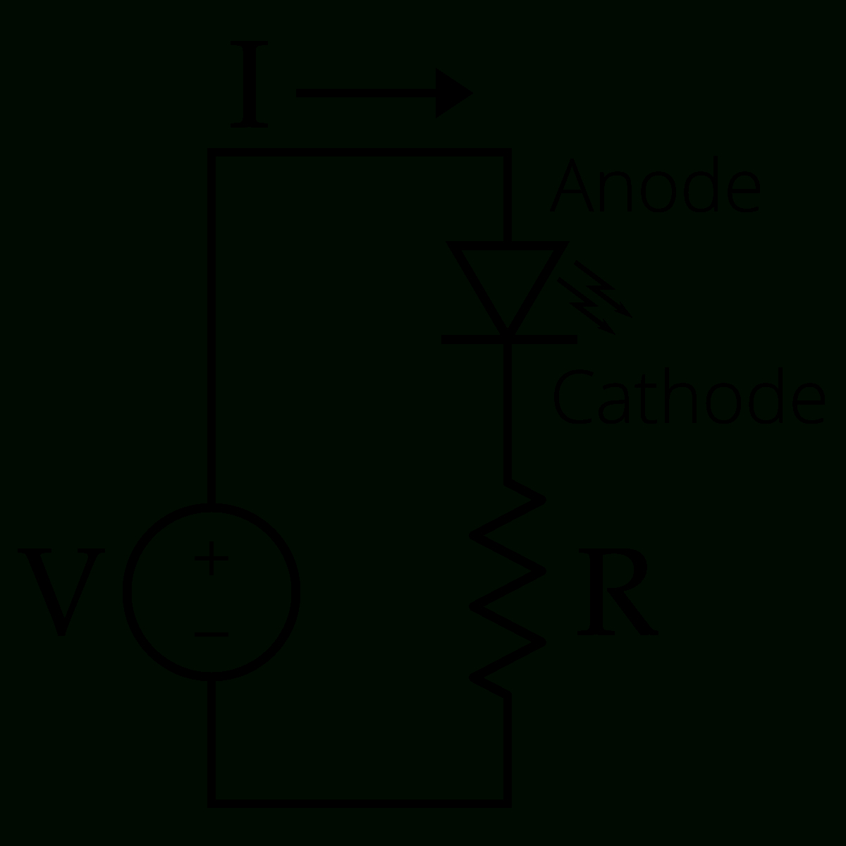 Led Circuit - Wikipedia - Led Wiring Diagram