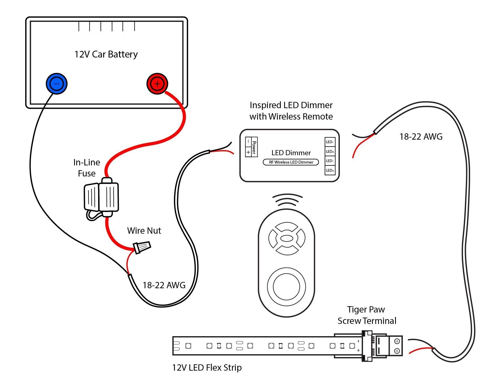 Led Light Strip 12V Wiring - Wiring Diagrams Click - Led Lighting Wiring Diagram
