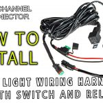 Led Light Wiring Harness With Switch And Relay Single Channel Dt   Led Light Bar Wiring Harness Diagram