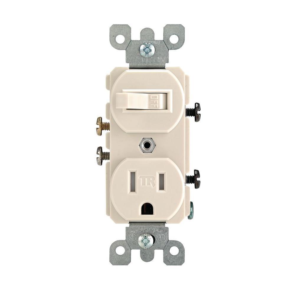 Leviton 15 Amp Tamper-Resistant Combination Switch/outlet, Light - Leviton Combination Switch And Tamper Resistant Outlet Wiring Diagram