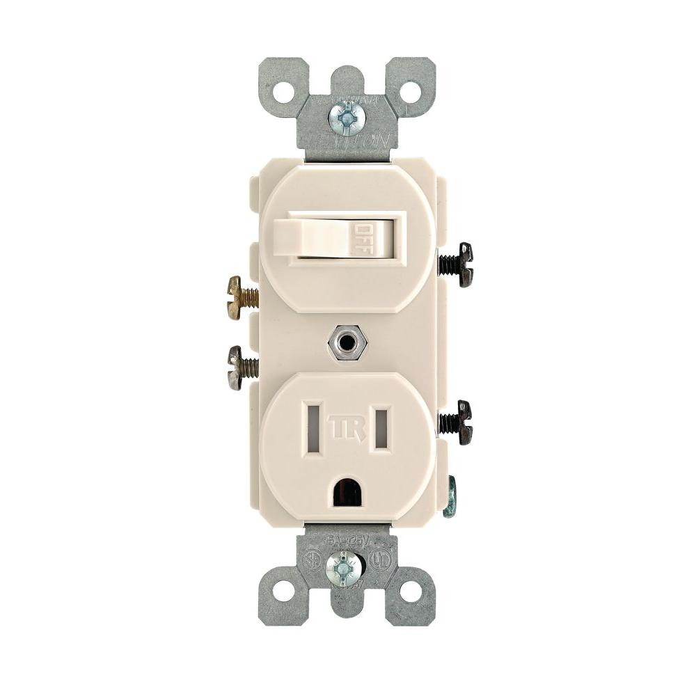 Leviton 15 Amp Tamper-Resistant Combination Switch/outlet, Light - Wiring A Light Switch And Outlet Together Diagram