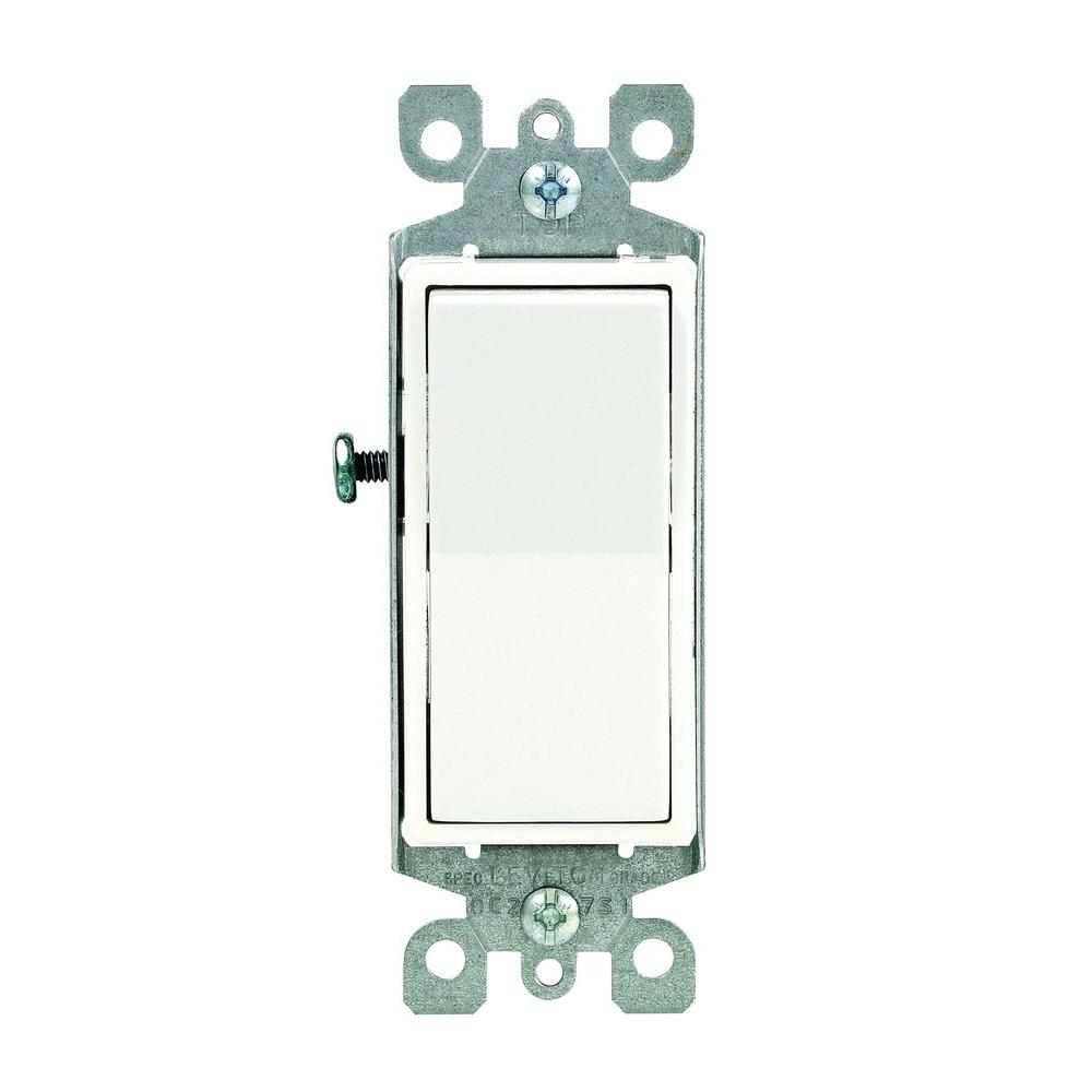 Leviton Decora 15 Amp Illuminated Rocker Switch, Light Almond-R76 - Leviton 3 Way Dimmer Switch Wiring Diagram