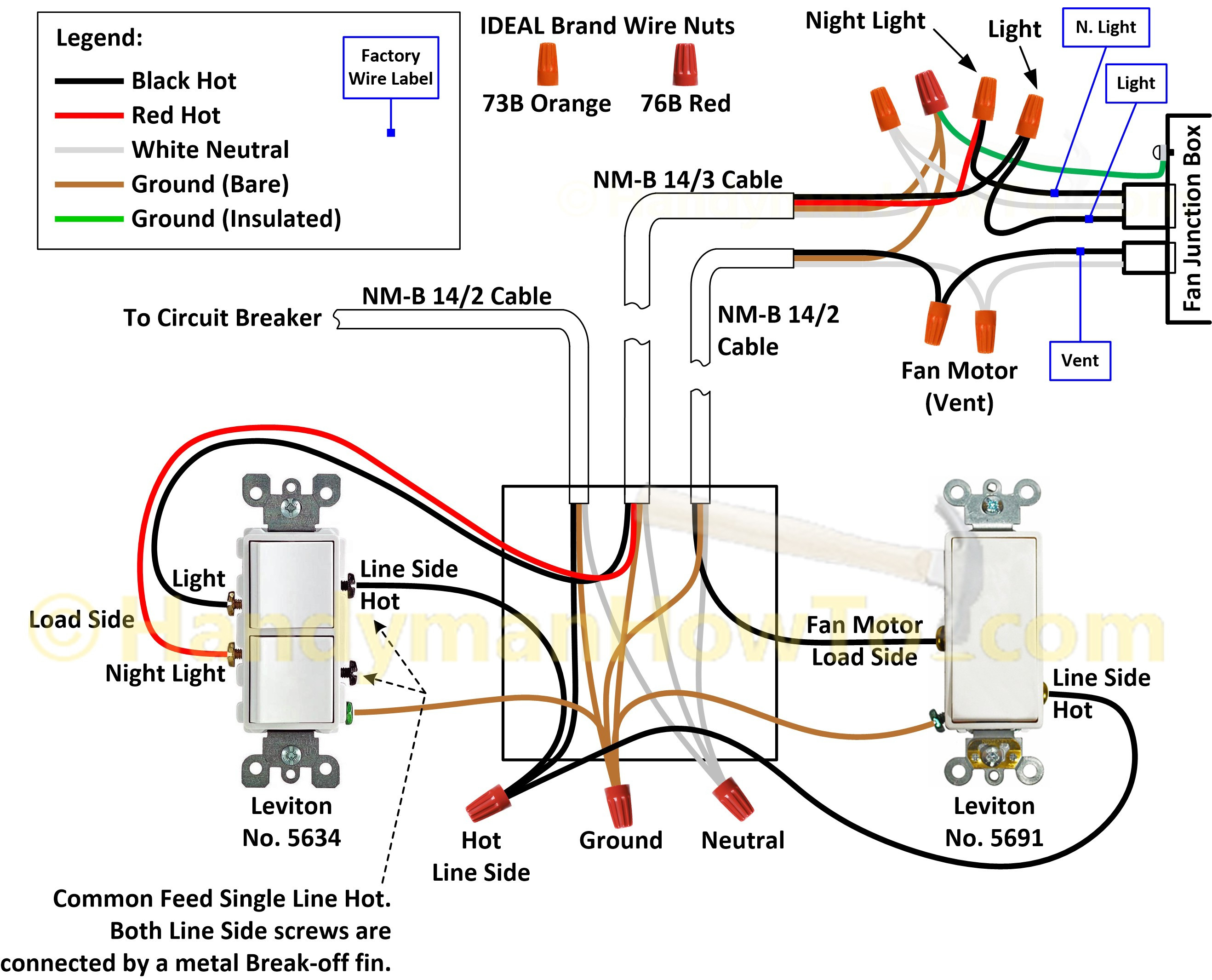 Leviton Double Switch Wiring Diagram | Manual E-Books - Leviton Double Switch Wiring Diagram