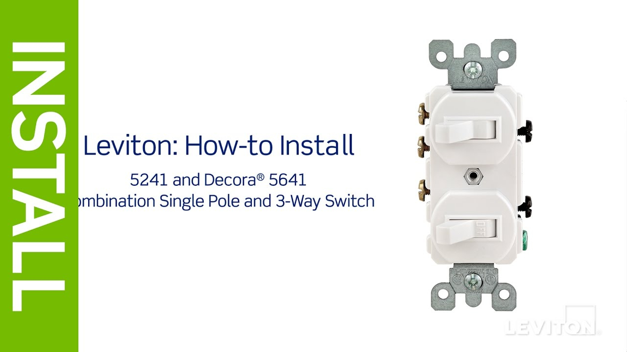 Leviton Presents: How To Install A Combination Device With A Single - Dual Light Switch Wiring Diagram