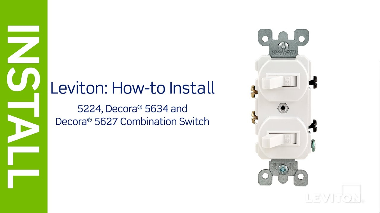 Leviton Presents: How To Install A Combination Device With Two - Single Pole Switch Wiring Diagram
