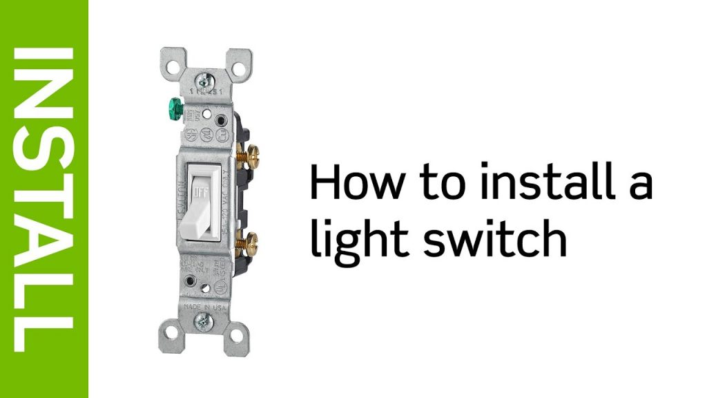 Leviton Presents  How To Install A Light Switch - Youtube